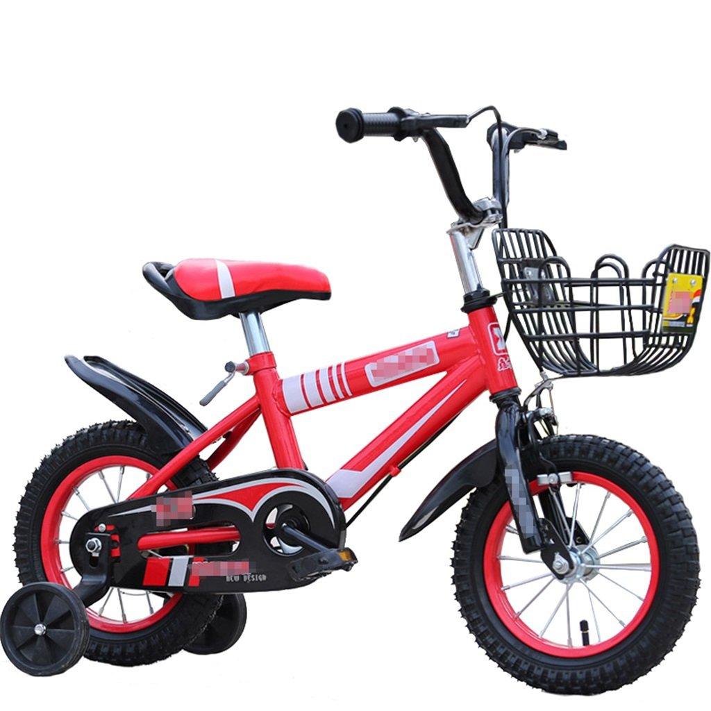 KANGR-子ども用自転車 子供用自転車マウンテンバイクに適した2-3-6-8少年少女キッズ玩具ハンドルバー/サドル高さはトレーニングホイールで調節可能-12 / 14/16/18インチ ( 色 : 赤 , サイズ さいず : 18 inches ) B07BTZ8TZ6 18 inches|赤 赤 18 inches