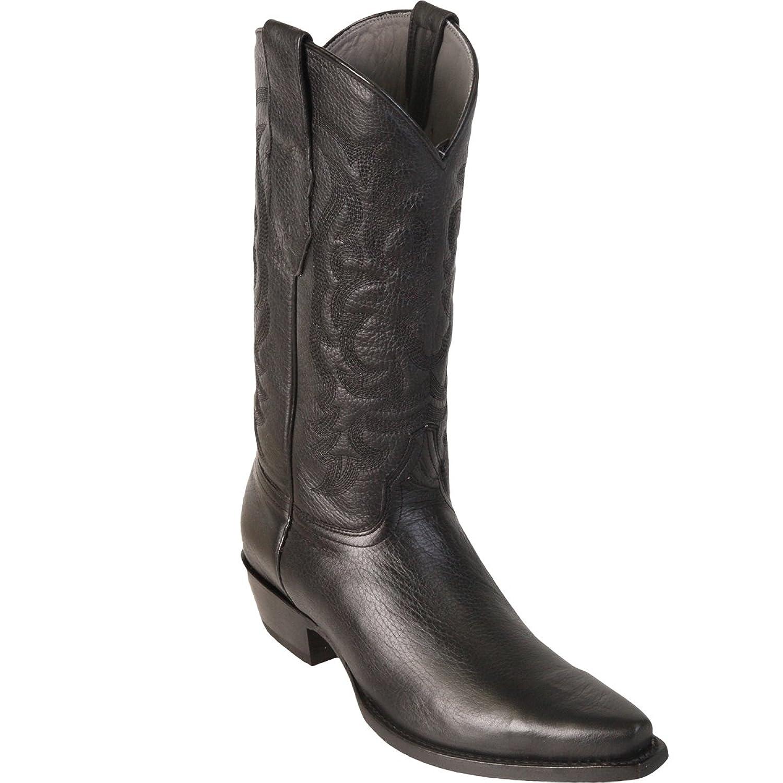 Original Black Deer Skin Snip-Toe Boot