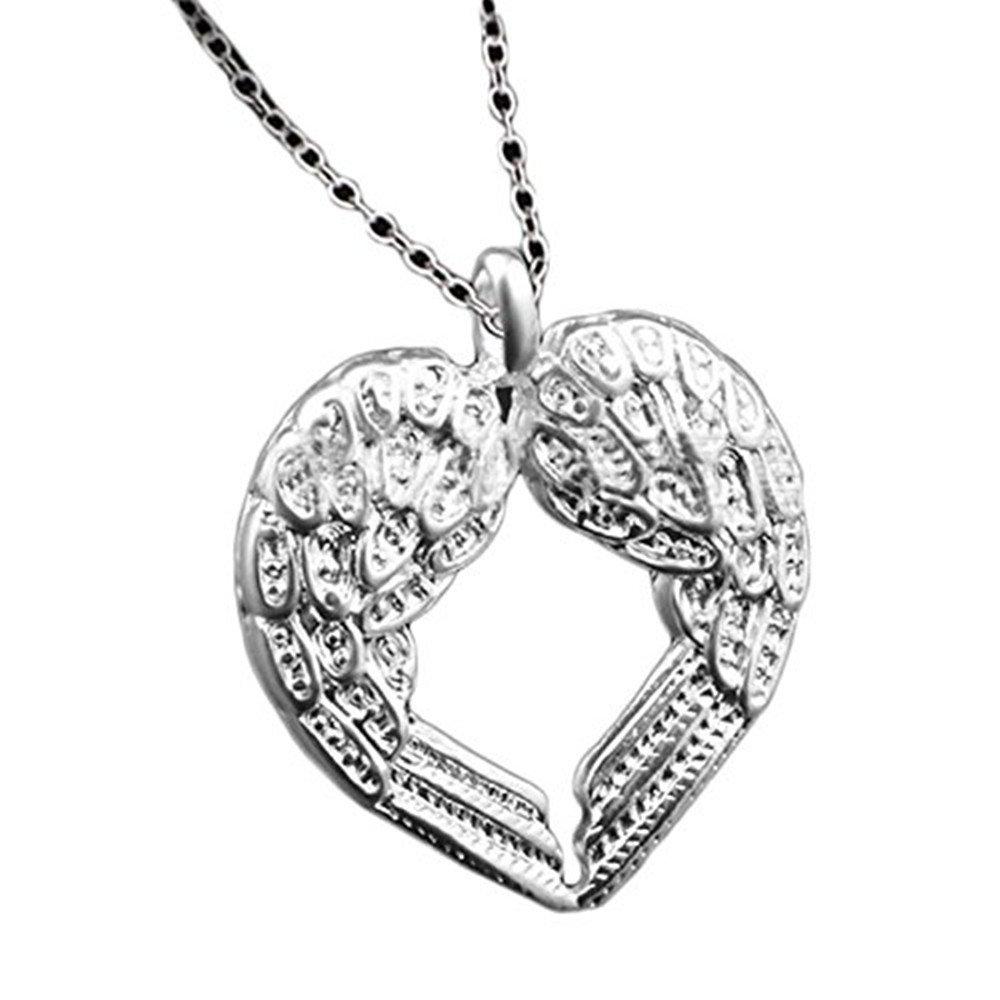 START Fashion Women Diamond Angel Wing Heart Necklace New