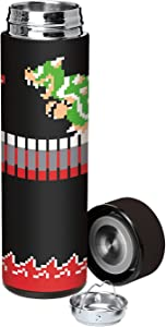 Marketing Instincts Super Mario Bros Bowser Vacuum Insulated Stainless Steel Water Bottle - Black (17oz.)