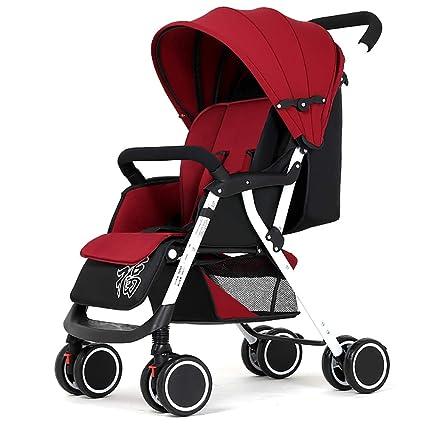 Yhz@ Cochecito de bebé, Carro de bebé Ligero Plegable de 4 ...