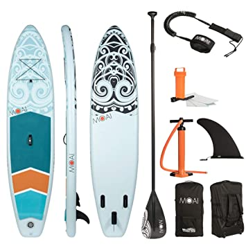 "MOAI Sup Hinchable, Tabla de Stand up Paddle Surf 11"" (335x75x15cm) -"