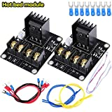 Pack Of 2Pcs 3D Printer Heat Hot Bed Power Module Expansion Board MOS Tube High Current Load Module Kit