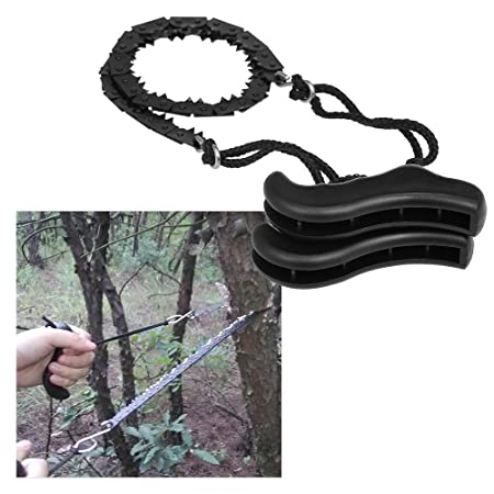Folding Chain Saw Jagged Chainsaw Manual Steel Wire Saw Hand Camping Hiking UK