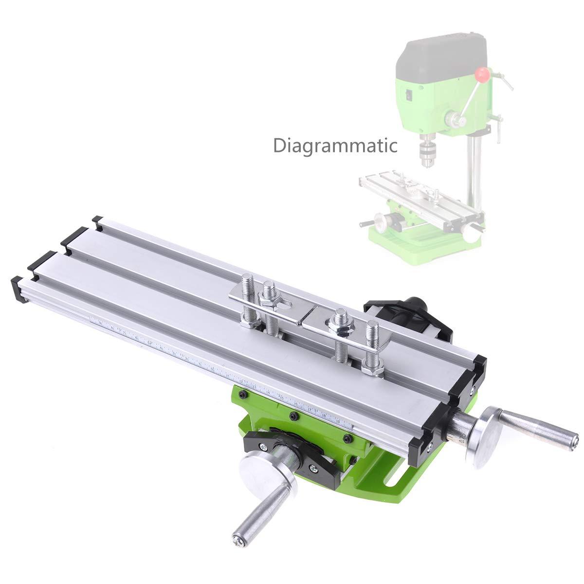 Miyare Mini Multifonction Fraisage Table de Travail Fraiseuse Composite Perç age Table de Coordonné es 310x90 mm DEWEL HJ-CEA-1702