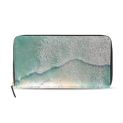 Playa de arena de verano largo pasaporte embrague monederos ...