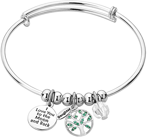Moonlight Collections Quotes Cancer Awareness Inspirational Jewelry Wire Bangle Bracelets