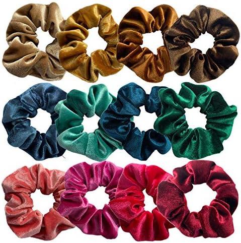 Paquete de 12 bandas de pelo de terciopelo para niñas de VSCO ...