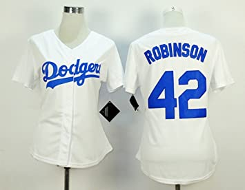 Women s  42 Jackie Robinson Baseball Jersey White XXXL  Amazon.co.uk ... da98ddbff8d