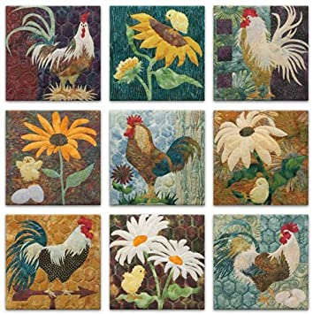 Amazon.com: McKenna Ryan Pine Needles All Cooped Up Rooster ... : rooster quilt patterns - Adamdwight.com