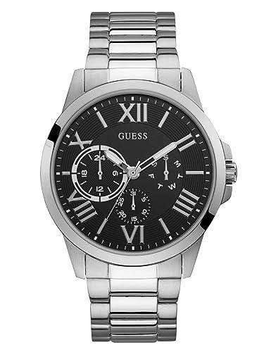 Amazon.com: Guess Hombre Cuarzo Reloj de acero inoxidable ...
