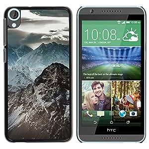 // PHONE CASE GIFT // Duro Estuche protector PC Cáscara Plástico Carcasa Funda Hard Protective Case for HTC Desire 820 / Oscuras Montañas Rocosas /