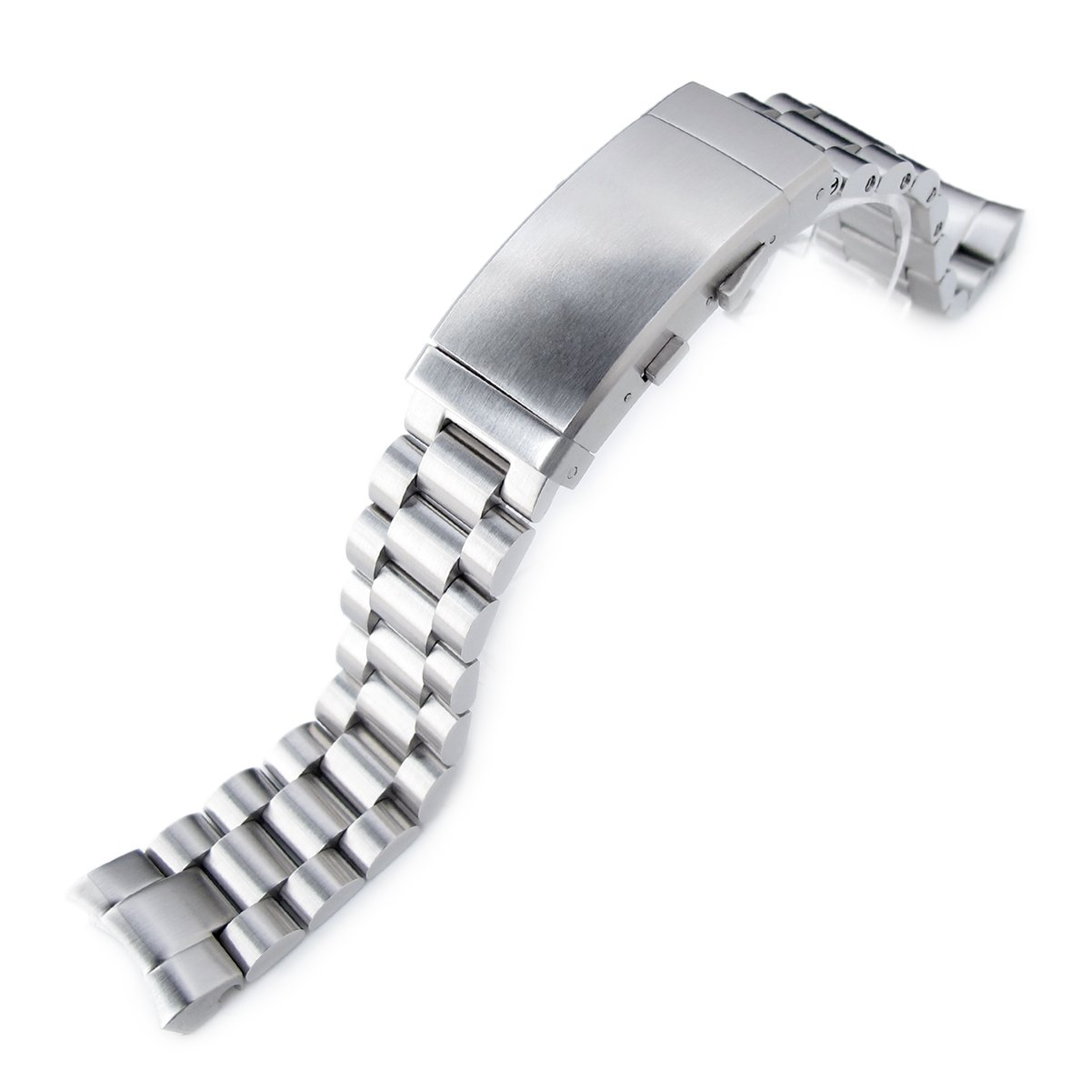 20mm Endmill Watch Band for SEIKO Sumo SBDC001 SBDC003 SBDC031 SBDC033, Wetsuit Ratchet Buckle