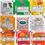 Kellogg's & General Mills Cereal Bowl Variety - Apple Jacks, Mini Wheats, Corn Pops, Corn Flakes, Cinnamon Toast Crunch, Honey Nut Cheerios, Lucky Charms, Reese's Puffs + 1 Bag of Cereal Marshmallows