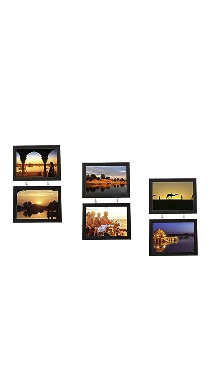8817b162422f Buy RR Friends Wood Wall Photo Frame Set of 6 (RRFR-005 Black ...