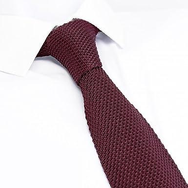 The Cufflink Store Corbata de seda de corte cuadrado tejida de ...