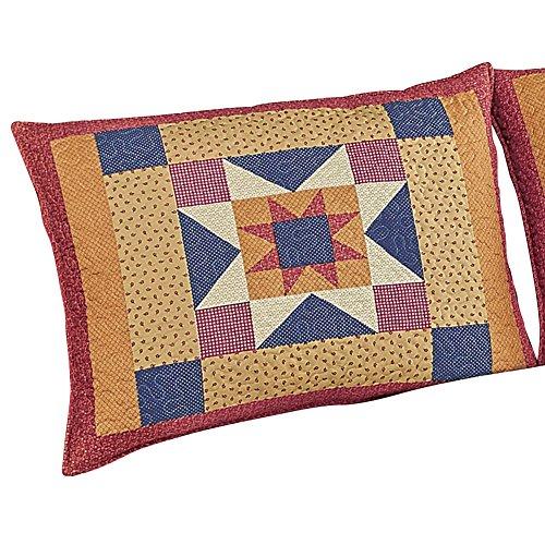 Geometric Star Patchwork Pillow Sham