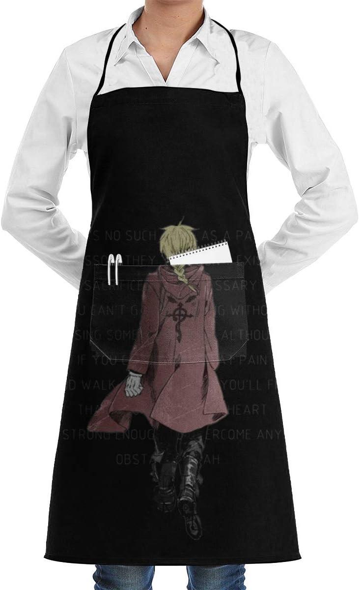 Un coeur en Fullmetal ~ Unisexe Chef Cuisine Tablier de Cuisine Tabliers de Mode Durables Bavoir avec Poche pour Restaurant Caf/é Maison Barbecue Grill Cuisson Jardinage Artisanat Peinture
