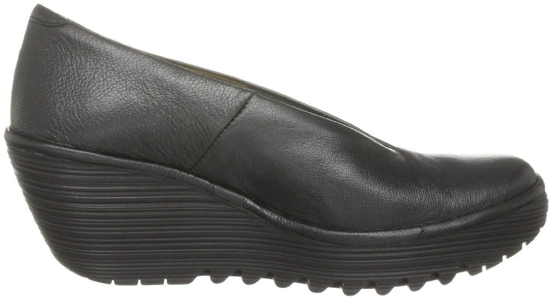 FLY Wedge London Yaz Schwarz Leder Damen Wedge FLY Schuhe Stiefel 678f81