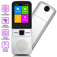 Translator Device, Language Translator Device with Touch Screen Offline Translation Device with Camera Support 138 Languages | Wi-Fi | Hotspot