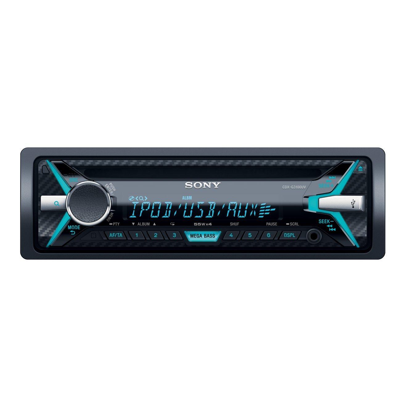 Sony CDX-G3100UV Autoradio (CD-Player, USB/AUX-Eingang, Apple iPod/iPhone Control, 4X 55 Watt) schwarz CDXG3100UV.EUR