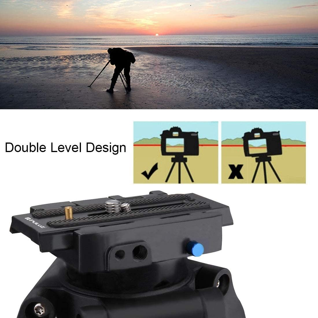Black Quick Release Plate for DSLR /& SLR Cameras Color : Gold ZL-U Professional Aluminum Alloy Quick Release Clamp Adapter