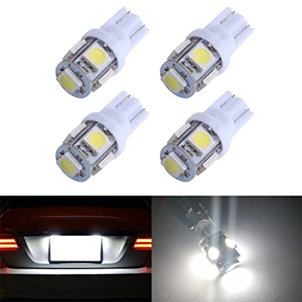 Car Lights 10pcs Blue T10 Led Bulb 194 168 158 W5w 5w Car Side Wedge Light Bulb Mini Tail Turn Signal Parking Lights Automobiles & Motorcycles