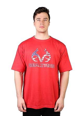 366d97ecfcfd7 Realtree Men's Americana Deer Logo Cotton T-Shirt   Amazon.com