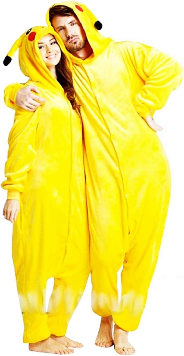 KIRALOVE Disfraz de Pikachu Mujer - Hombre - Pijama - Disfraz ...