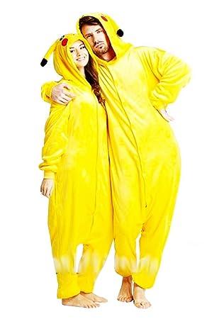 mejor ventas especiales de calidad superior KIRALOVE Disfraz de Pikachu Mujer - Hombre - Pijama - Disfraz ...