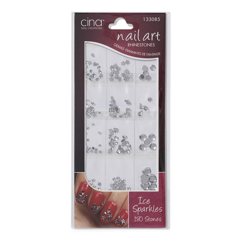 Amazon Com Cina Nail Creations Art Jewelry Decals Ice Sparkles Rhinestones Ice Sparkles Rhinestones Beauty