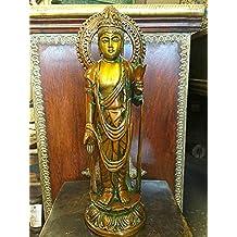 Standing Kwan yin Brass Statue Idol 16inch