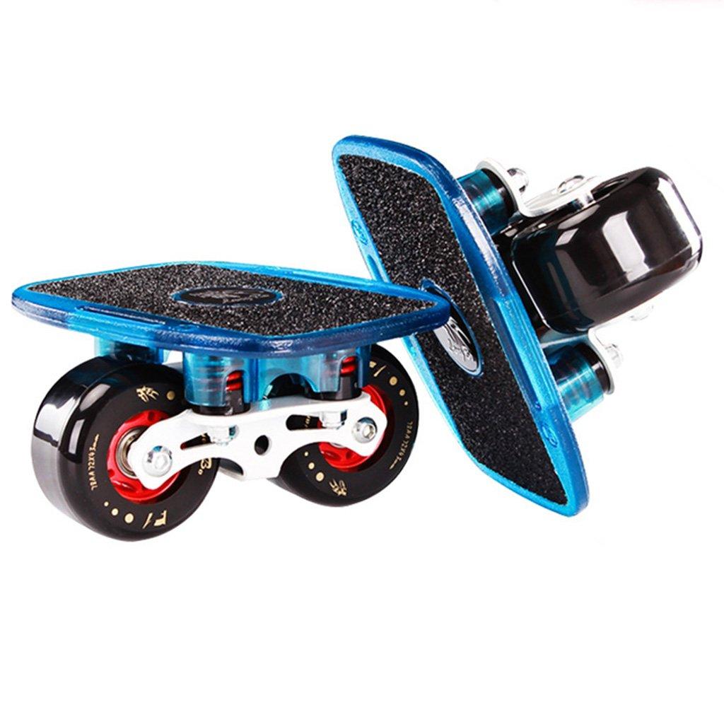 国内最安値! ドリフトボードフライラインスケートフラッシュ大人の子供四輪スプリットスケートボード輸送されたロードスクラブ B07FM74KDZ Blue B07FM74KDZ Blue, hoo Nigen gallery:14e93939 --- a0267596.xsph.ru