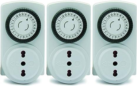 230v 1000w Timer PRESA CON SENSORE CREPUSCOLARE /& funzione conto alla rovescia 5a ip44