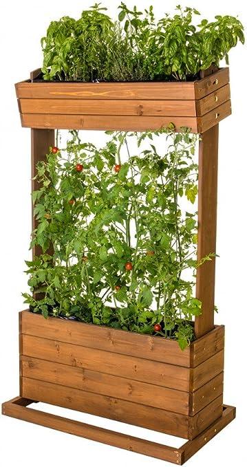 Vertical Bancal – Mesa para plantas aromáticas. Madera Real con ...