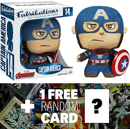 Captain America: Funko Fabrikations x Avengers - Age of Ultron Figure + 1 FREE Official Marvel Trading Card Bundle [50764]