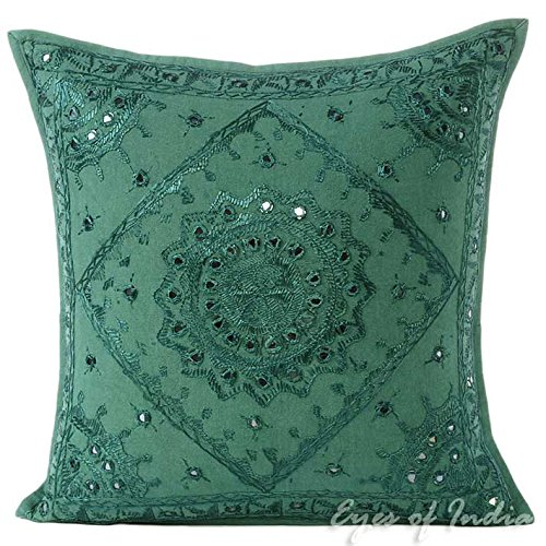 """Eyes of India 16"""" Emerald Teal Colorful Decorative Mirror Em"""
