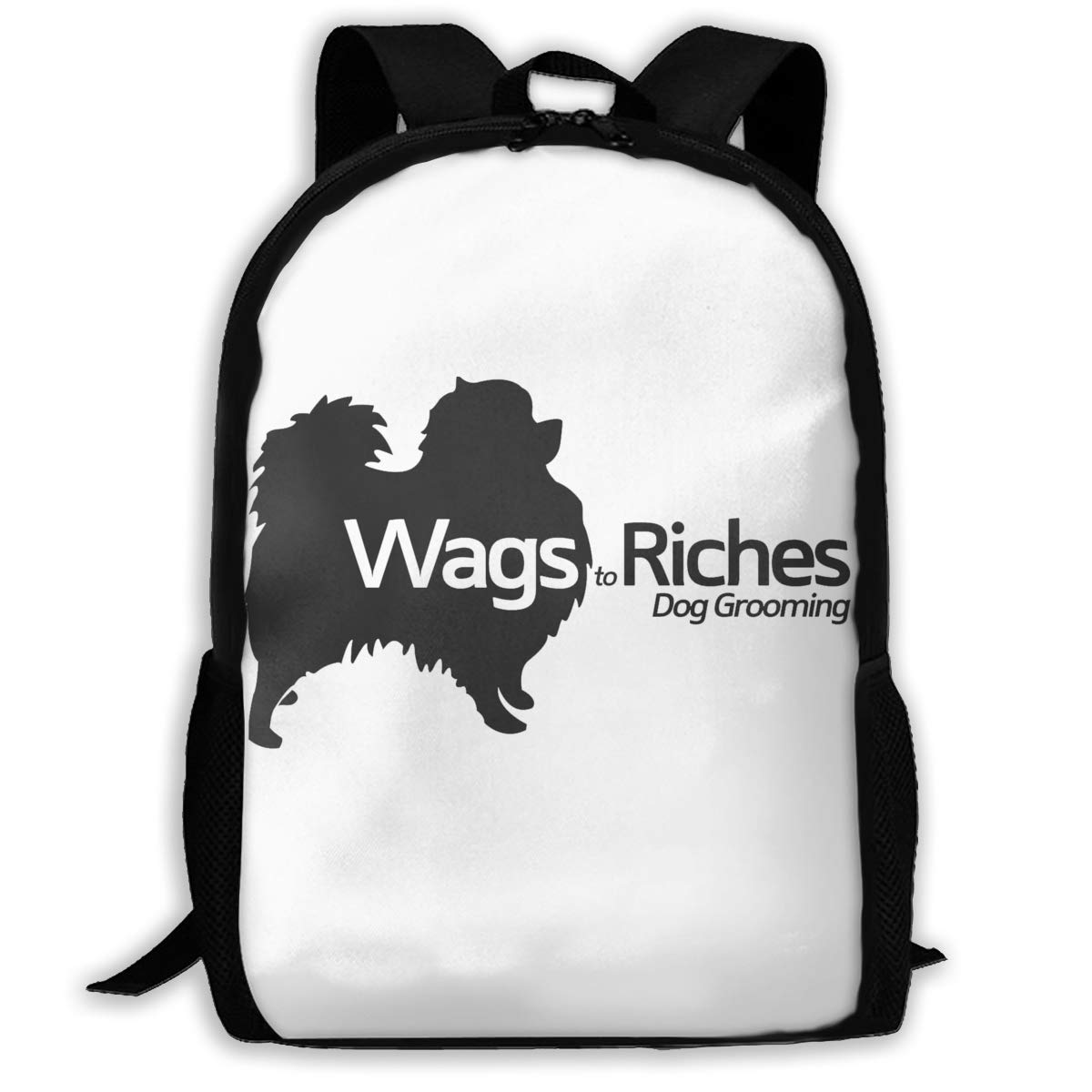 Backpacks Girl\'s Shoulder Bag Bookbags School Season Wags to Riches Dog Grooming Traveling Bags
