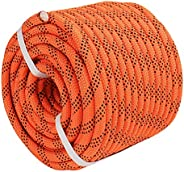 """YUZENET Braided Polyester Arborist Rigging Rope (3/8"""" X 100') Strong Pulling Rope for Climbing Sailin"""