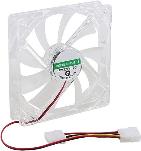 rdexp transparente funda rodamientos LED verde luz ventilador ...
