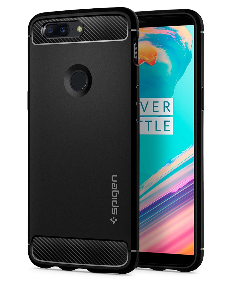Spigen Rugged Armor Designed for OnePlus 5T Case (2017) - Black