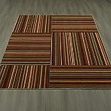 Ottomanson Studio Collection Striped Design Area Rug, 5'0″ X 6'0″, Multicolor For Sale
