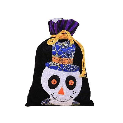 KOBWA - Bolsas de Tela no Tejida para Halloween o Trick con ...