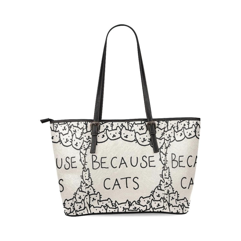 Cat Custom PU Leather Large Tote Bag/Handbag/Shoulder Bag for Fashion Women /Girls