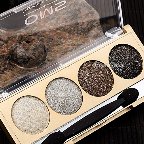 Glitter Natural Shimmer 4 Colors Smokey Eyeshadow Palette Wa