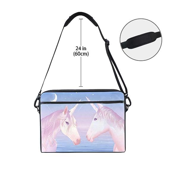 067904888df Amazon.com  Laptop Computer Bag Moonlight Unicorn Notebook Shoulder  Messenger Cases Packs for Women Men (15-15.4 in)  Computers   Accessories