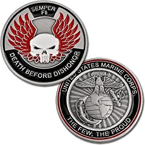 Marines Death Before Dishonor Challenge Coin