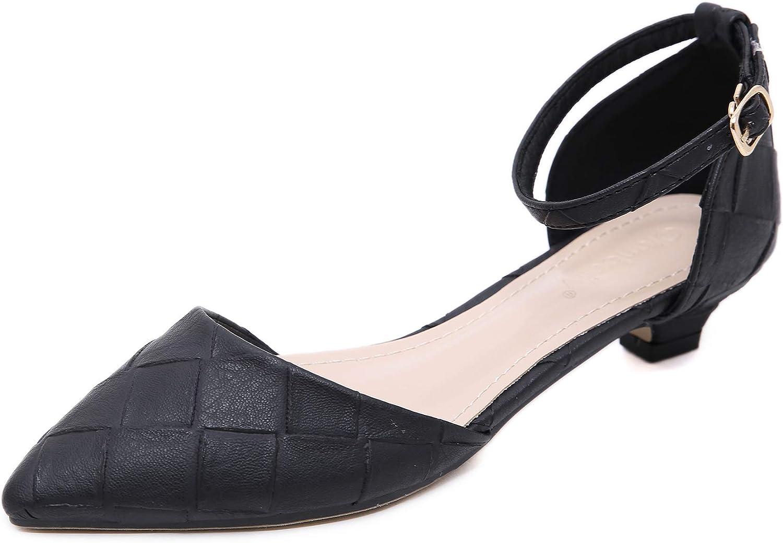 Women's Pointed D-Orsay Low Heel Pumps