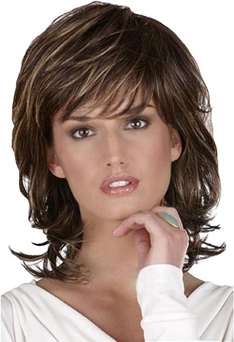 wig Peluca de Pelo Corto y Rizado para Mujer, de Aspecto Natural ...