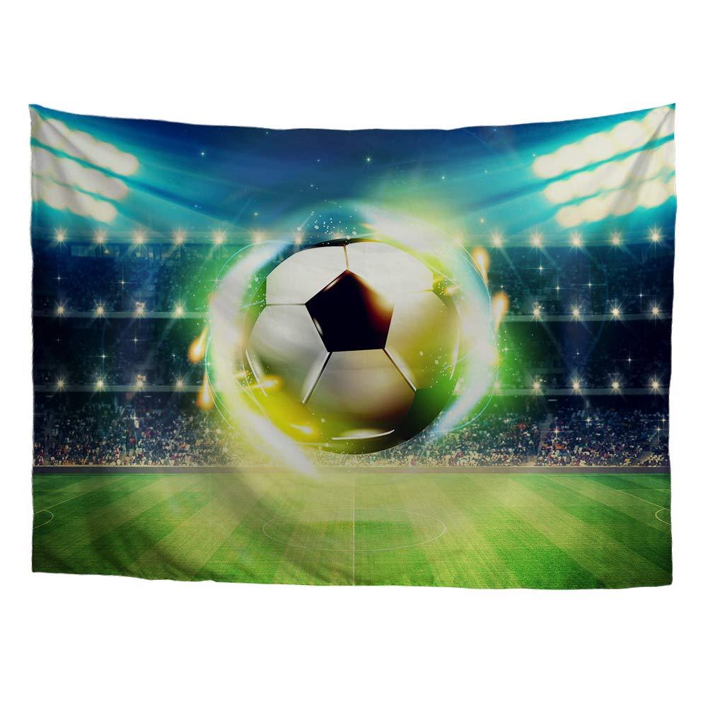 S-129x152 cms Estampado Vintage Manta de Pared Hippie decoraci/ón de Pared para sal/ón Dormitorio HUGS IDEA Tapiz de Pared para Colgar Bolas Deportivas de f/útbol Soccer 1